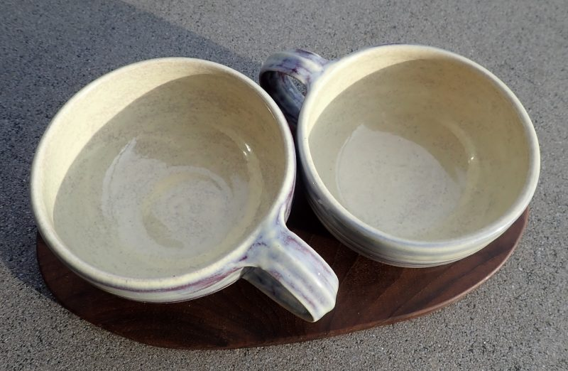 Pair of cups with salver
